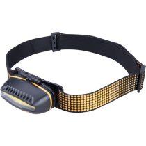 Extol LED fejlámpa, 5 W COB (széles vetítőszögű); 300 Lumen, 3 funkció (teljes/fél fényerő, villogás), cseppálló, elem nélkül