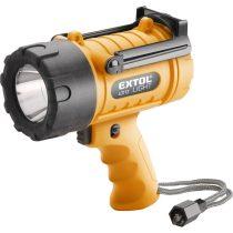 EXTOL LIGHT LED lámpa, 5 W, nagy fényerejű kézi reflektor, vízálló, elem nélkül