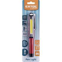 Extol Light LED lámpa, 3 W COB, 280 Lumen,  toll típusú; ALU ház, mágneses akasztó, elem nélkül |43118|