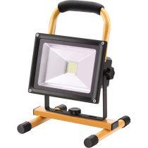 EXTOL LIGHT hordozható LED lámpa (reflektor), 10/20W, 1400 Lm, IP65, Li-ion akkus, 4400 mAh, tölthető: 230V és 12V is, 1,5kg