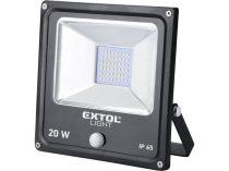 EXTOL LIGHT LED lámpa, falra szerelhető reflektor, mozgásérzékelővel, 20W, 1500 Lm, IP65, 230V/50Hz, 0,72 kg