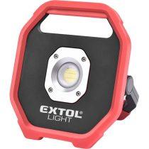Extol Light hordozható LED lámpa, elemes reflektor, 10W; 1200 Lm, IP54,  0,67 kg |43260|