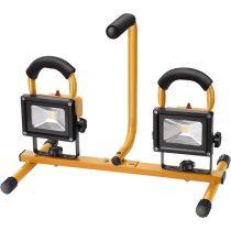 EXTOL LIGHT hordozható LED lámpa, 2×10 W, reflektor, 2×800 Lm, IP65, teleszkópos állvánnyal, 230V/50Hz, 2,9 m kábel