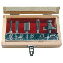 Extol Craft felsőmaró klt.  5 db-os (fadobozban) ; 8mm-es befogással |44025|