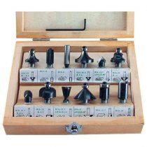 Extol Craft felsőmaró klt.  12db, kisebb szett (fadobozban) ; 8mm-es befogással |44032|
