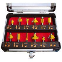 Extol Craft felsőmaró klt.  12db, kissebb szett (alu kofferben) ; 8mm-es befogással, keményfém lapkás  44037 