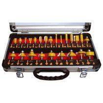 Extol Craft felsőmaró klt.  24db (alu kofferben) ; 8mm-es befogással, keményfém lapkás |44039|