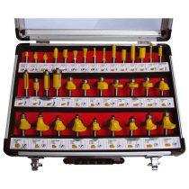 EXTOL felsőmaró klt. 35db, (alu kofferben) ; 8mm-es befogással, keményfém lapkás
