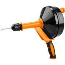 Extol Craft lefolyócső tisztító, dobos, 6m, 6mm átmérő,  kézi tekerővel, (1,8mm drótból sodorva) |5464|
