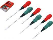 Extol Premium csavarhúzó készlet, 6db CV., mágneses; PH 0×75, 1×100, 2×150, lapos 4×75, 5×100, 6×150 |55082|