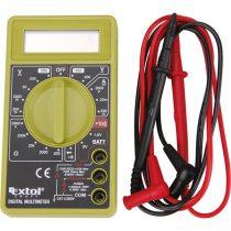 EXTOL CRAFT digitális multiméter; Amper/Volt/Ohm mérő, hangjelző funkcióval, CE, 1 db 9V elem