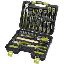 """Extol Craft szerszámkészlet, 57db, 1/4"""" CV.; 10 dugófej(4-13mm), racsnis kar+fogók,csavarhúzók,órás csavarhúzók, imbuszkulcs,BIT-ek"""