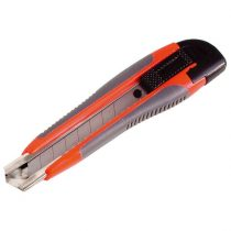 Extol Craft tapétavágó kés, 18mm, fémházas, gumírozott; pótpenge: 9123A |80039|