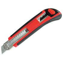Extol Premium tapétavágó kés, 18mm gum. nyél fémházas; öntöltős 3 pengével, pótpenge: 9123A (10db) 9134 (horgas törhető-5db)  80041 