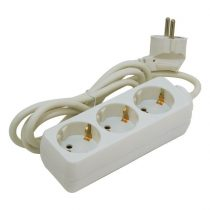 Extol Craft villamos elosztó/hosszabbító, 3 aljzat, 3m kábel, földelt, 250V/10A; max:2500W, Extol |84718|