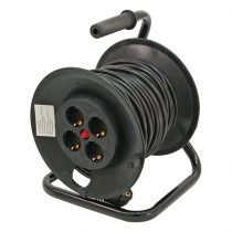 EXTOL villamos hosszabbító, dobra tekerve, 40m kábel, 4 db aljzat, 250V-10A; max: 2300W/920W, (1,0mm2) Extol