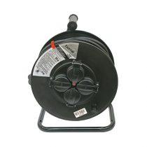 Extol Craft villamos hosszabbító, dobra tekerve, 30m gumikábel, 4 db aljzat, IP44, 250V; max: 3000W/1000W, (1,5mm2)