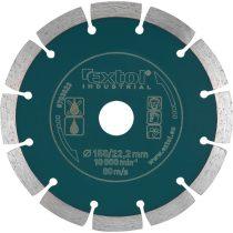 Extol Industrial gyémántvágó, ipari korong, szegmenses; 150mm, száraz vágásra