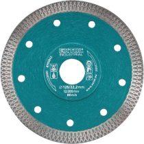 Extol Industrial gyémántvágó, ipari korong, TURBO, extra vékony vágás: 1,2mm vastagság; 125×22,2mm, száraz és vizes vágásra