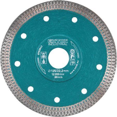 Extol Industrial gyémántvágó, ipari korong, TURBO, gyors és vékony vágás: 2,2mm vastagság; 230×22,2mm, száraz és vizes vágásra  8703045 