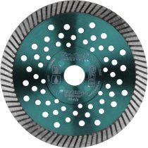 EXTOL INDUSTRIAL gyémántvágó, ipari korong,TURBO,gyors vágás; 125×22,2mm, száraz és vizes vágásra