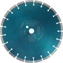 Extol Industrial gyémántvágó BETON-ra, ipari korong, szegmenses; 350×25,4mm, száraz és vizes vágásra |8703082|