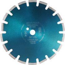 Extol Industrial gyémántvágó ASZFALT-ra, friss betonhoz, ipari korong, szegmenses; 350×25,4mm, száraz és vizes vágásra