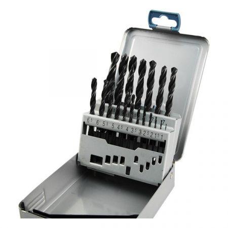 Extol Premium fémcsigafúró klt, HSS, DIN 338, fém dobozban;1,0-10,0mm, 19 db  8801191 