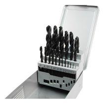 EXTOL PRÉMIUM fémcsigafúró klt, HSS, DIN 338, fém dobozban;1,0-13,0mm,25 db