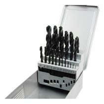 Extol Premium fémcsigafúró klt, HSS, DIN 338, fém dobozban;1,0-13,0mm,25 db |8801192|