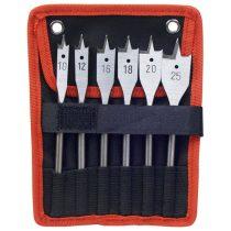 Extol Premium központmaró klt. fához 6db; 10-12-16-18-20-25mm, 152mm hosszú, edzett szénacél, hatszög befogás, DIN3126 |8801210|