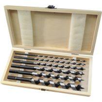 Extol Premium fafúró klt. 6 db, 6-8-10-12-16-20×260mm, csavaros heggyel, hatszög befogás; fa dobozban |8801290|