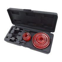 Extol Premium körkivágó klt., 15 db-os,(19-22-29-32-36-38-44-51-58-64-76mm) műanyag, fa, gipszkarton