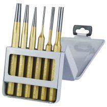 EXTOL PRÉMIUM lyukasztó és kiütő klt. 6db CV. HRC 52-58 ; 3 db lyukasztó, 3db kiütő, 3-8mm, 150mm