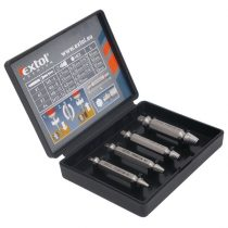 Extol Premium törtcsavar kiszedő klt. 4db (2,7-3,5-4,0-6,0 mm)×51mm, HSS