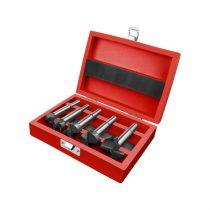 Extol Premium pánthelymaró klt., átm.:15-20-25-30-35 mm, keményfém lapkás, befogás: 8 ill. 10 mm, hosszúság: 85mm, fa dobozban