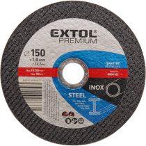Extol Premium vágókorong acélhoz/inoxhoz, kék; 115×1,0×22,2mm, max 13300 ford/perc, (darabáras, de csak ötösével rendelhető) |8808100|