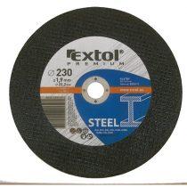 Extol Premium vágókorong acélhoz/inoxhoz, kék; 125×1,6×22,2mm, max 12200 ford/perc, (darabáras, de csak ötösével rendelhető)