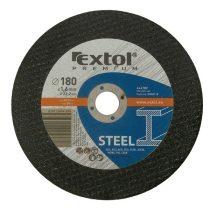 Extol Premium vágókorong acélhoz/inoxhoz, kék; 180×1,6×22,2mm, max 8500 ford/perc, (darabáras, de csak ötösével rendelhető) |8808118|