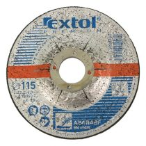 Extol Premium csiszoló korong acélhoz, kék; 115×6,0×22,2mm, max 13300 ford/perc