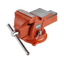 EXTOL PRÉMIUM satu forgatható;100 mm, 5 kg, max.befogás:65mm, max. összeszorító erő: 8kN, pofák keménysége: HRC 48-52