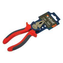 Extol Premium kombinált fogó, 160mm, duál narancs/kék, TPR nyél, akasztós szerszámtartó |8813106|