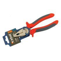 Extol Premium kombinált fogó, 200mm, duál narancs/kék, TPR nyél, akasztós szerszámtartó |8813114|