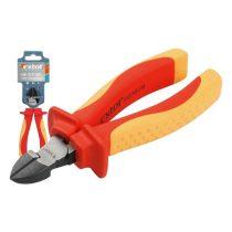 EXTOL PRÉMIUM oldalcsípő fogó, 160mm, szigetelt, 1000V, VDE, DIN ISO 5749, CV, duál piros/sárga nyél, akasztós szerszámtartó