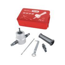Extol Premium fúrógéppel hajtható mechanikus lemezvágó/lyukasztó fej, max. 2 mm lemezekhez