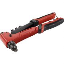 Extol Premium popszegecshúzó fogó, egykezes, ALU, réz, acél, INOX szegecsekhez; 2,4-3,2-4,0-4,8 mm, 250mm, CrVMo pofák |8813742|