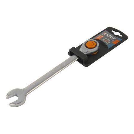 Extol Premium racsnis csillag-villás kulcs 15mm C.V. 72 foggal, 1 irányú forgás;  8816115 