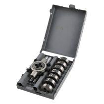 Extol Premium menetmetsző klt., M3-M12, 9 db;M3-M4-M5-M6-M7-M8-M10-M12+hajtókar