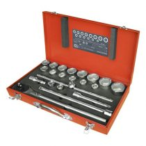 "Extol Premium dugókulcs klt., 22db; 3/4"", 19-50mm, CV., 24 fogú racsni, fém doboz |8818350|"