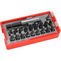 Extol Premium behajtó klt. 20 db C.V., lapos:3-6, PH1-3, PZ1-3, HEX 4-6mm, T10-40, övre akasztható műanyag tartóban